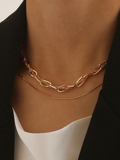 925 Sterling Silver Snake Minimalist Necklace