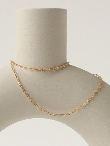 Brass Geometric Minimalist Cable Chain