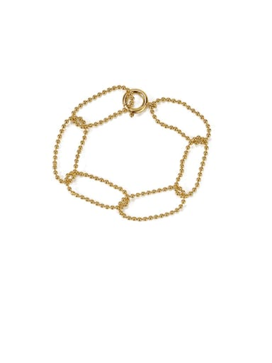 Bracelet Brass  Hollow Geometric Chain Minimalist Necklace
