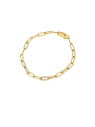 Bracelet (20cm) Titanium Steel Hollow Geometric Minimalist Cable Chain