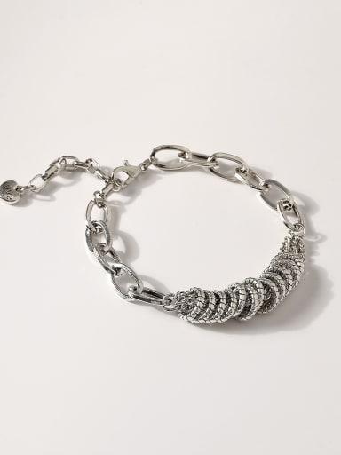 Alloy Hollow Geometric Vintage Link Bracelet