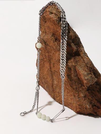 Brass Geometric Minimalist Multi Strand Necklace