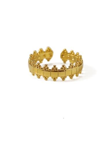 Gold lace Brass Irregular Minimalist Midi Ring