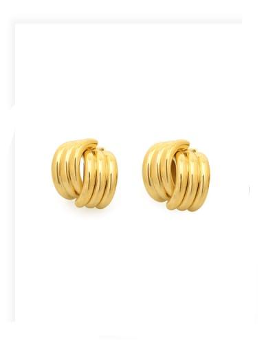 Brass Irregular Minimalist Stud Earring
