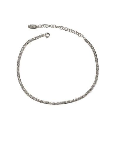 Style 2 silver Brass  Geometric Minimalist Anklet