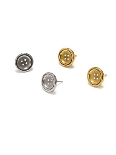 Titanium Steel IrregularC Ethnic Stud Earring