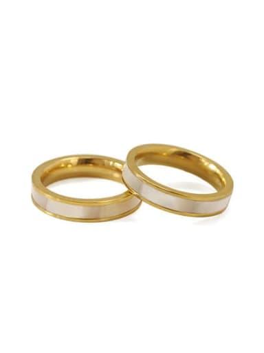 Brass Shell Round Minimalist Band Ring