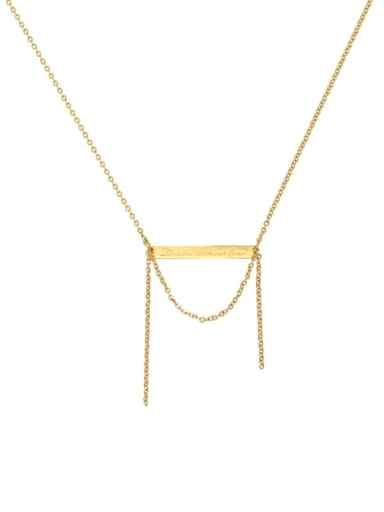 Brass Tassel Ethnic Tassel Trend Korean Fashion Necklace