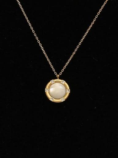 Copper Shell Geometric Minimalist Necklace