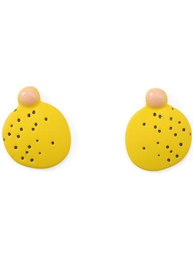 Alloy Enamel Geometric Minimalist Stud Earring
