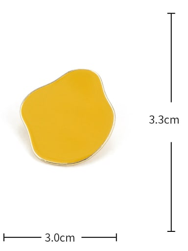 Yellow Earrings Alloy Enamel Geometric Cute Stud Earring