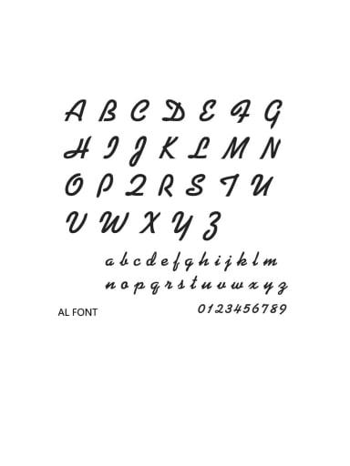AL Font Stainless steel Letter Minimalist  Name custom name ring