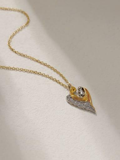 Brass Geometric Vintage Necklace