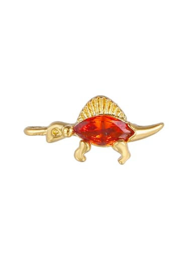Bright red (gold) Brass Cubic Zirconia Multi Color Small animals Cute Diy  Charms