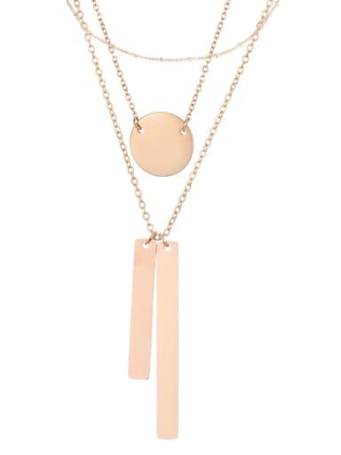 rose gold Stainless steel Geometric Minimalist Multi Strand Necklace