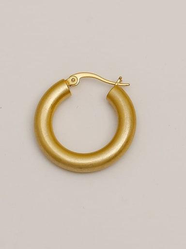 Dumb gold Brass  Smooth Geometric Vintage Hoop Earring