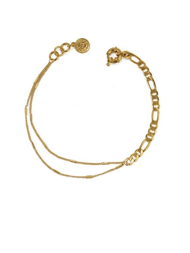 Brass Coin Vintage Double layer Anklet