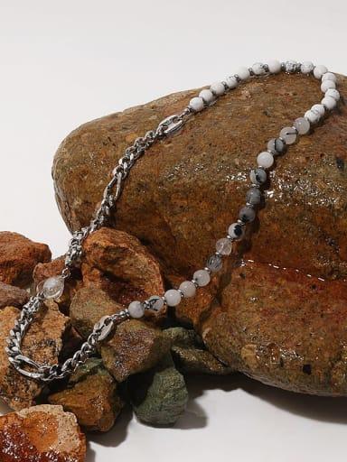 Brass Imitation Pearl Round Minimalist Beaded Necklace
