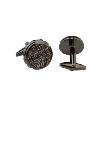 Brass Rhinestone Round Vintage Cuff Link