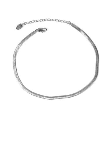 Style 1 silver Brass  Geometric Minimalist Anklet