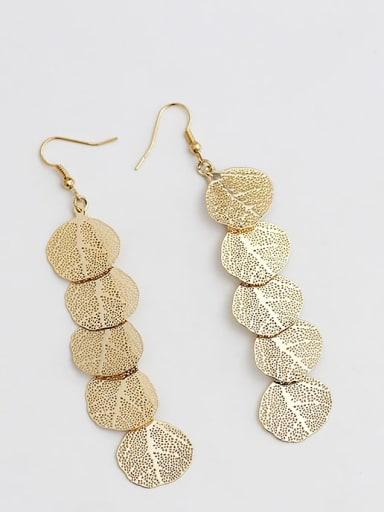 18K gold Copper Tree Bohemia Hook Trend Korean Fashion Earring
