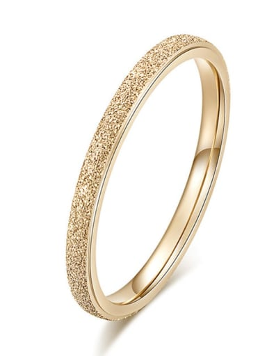 ??2MM? Titanium  Round Geometric Minimalist Band Ring