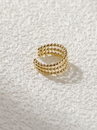 Brass Geometric Minimalist Clip Earring