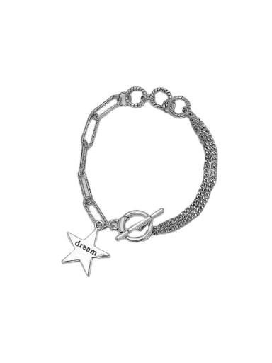 Brass Geometric Hip Hop Strand Bracelet