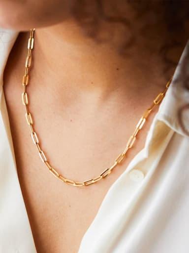 Titanium Geometric Minimalist Link Necklace