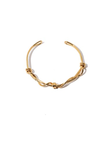 golden Brass Geometric Vintage Cuff Bangle