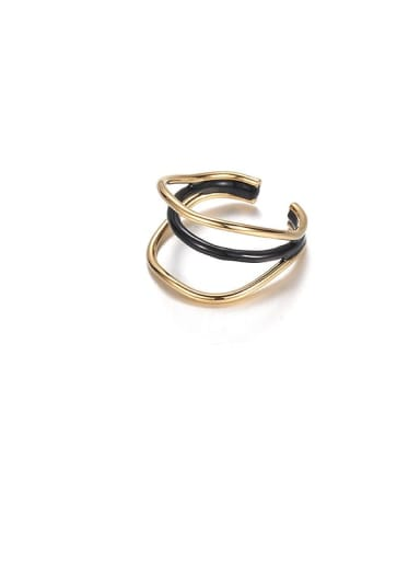 Brass Geometric Vintage Stackable Ring
