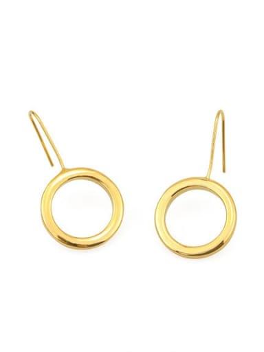 Round (vacuum plating) Brass Geometric Minimalist Hook Earring