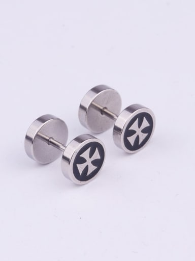 5# Steel Color Stainless steel Bell Minimalist Stud Earring