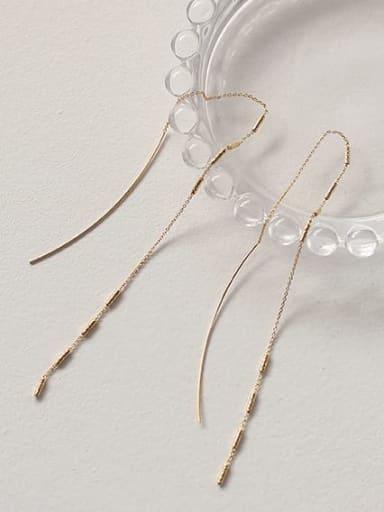Brass Tassel Minimalist Threader Earring