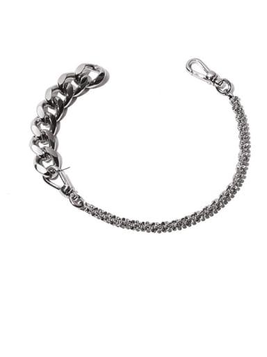 Brass Geometric Hip Hop Hollow Chain Link Bracelet