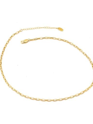 Grid chain Brass Geometric Minimalist Choker Necklace