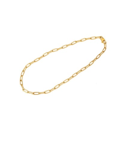 Collar (35cm) Titanium Steel Hollow Geometric Minimalist Cable Chain