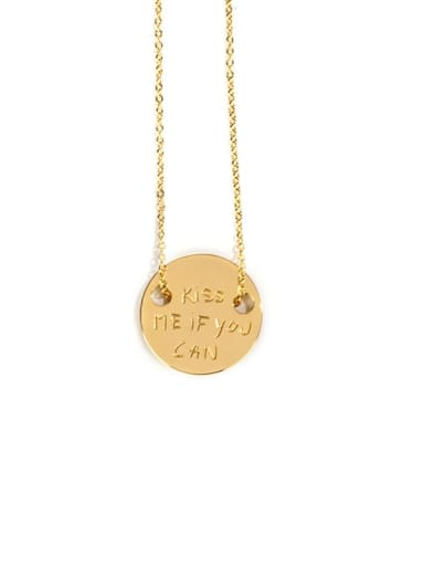 golden Titanium Steel Geometric Hip Hop Necklace