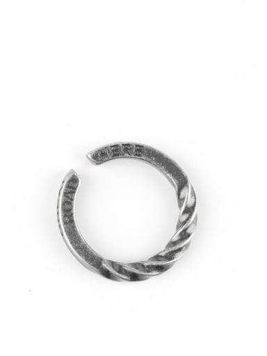Titanium Steel Irregular  Twist Vintage Band Ring