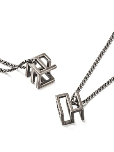 Titanium Steel Square Minimalist Long Strand Necklace