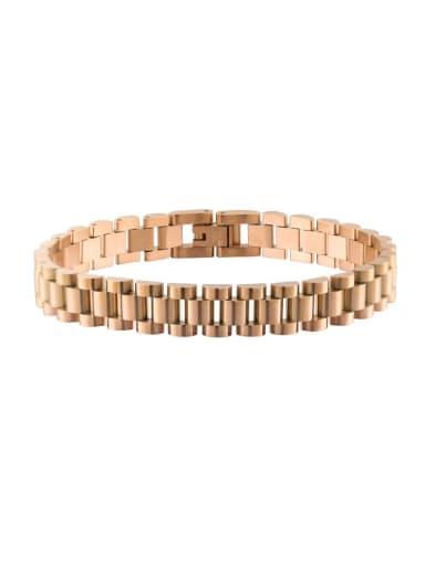 rose gold Titanium Steel Geometric Minimalist Link Bracelet