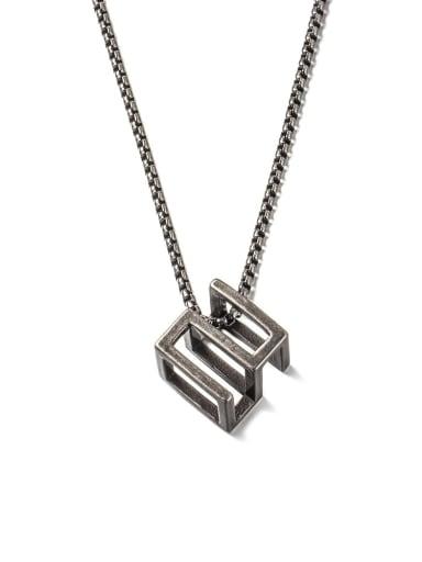 Ancient  (520) Titanium Steel Square Minimalist Long Strand Necklace