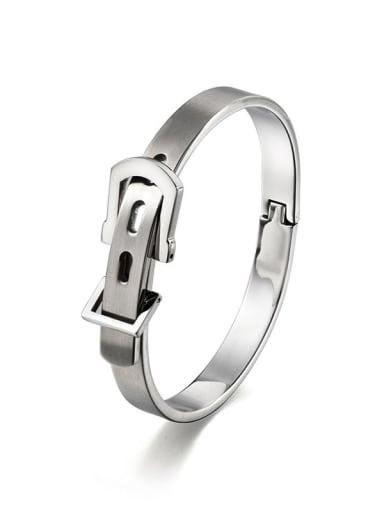 Steel small Titanium Steel Irregular Hip Hop Belt buckle  Band Bangle