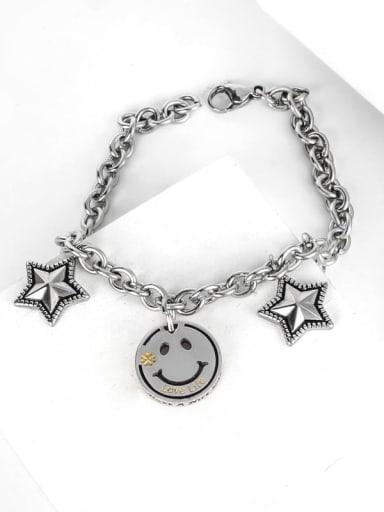 Titanium Steel Geometric Hip Hop Link Bracelet