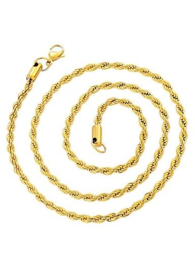 Chain 3mm*61cm Titanium Steel Cubic Zirconia Hand Of Gold Ethnic Necklace