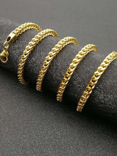 Titanium Steel Hollow Geometric Chain Vintage Cable Chain