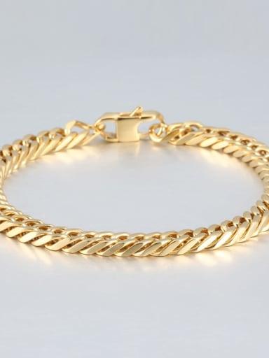 Gold (0.6cm wide) Titanium+smooth Minimalist Chain