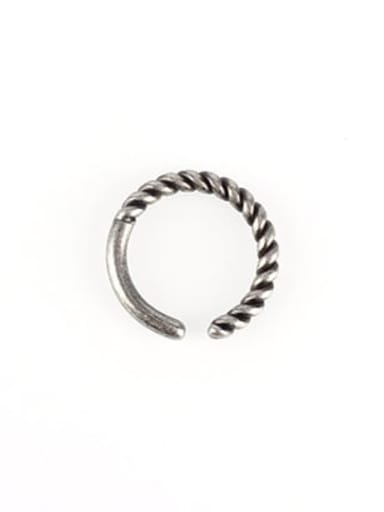 Thread Gu Yin (size 6) Titanium Steel Geometric Vintage Band Ring