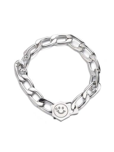 Bracelet 18cm Titanium Steel Geometric Hip Hop Necklace