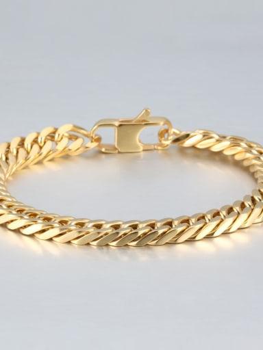 Gold (0.8cm wide) Titanium+smooth Minimalist Chain